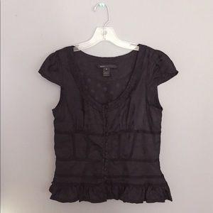 Marc Jacobs top, corset details, embossed dots